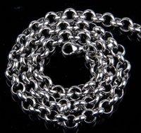 Wholesale Mens Chain Necklace Simple Titanium Necklaces Chains Jewelry