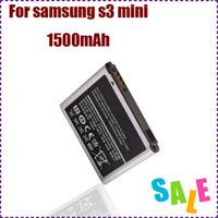 Wholesale SAVE mAh EB425161LU galaxy s3 mini replacement mobile phone battery for Samsung galaxy s3 mini i8190 i8160 rechargeable bateria AKKU