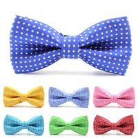 Wholesale Hot Sale casual kids collar bow tie polka dot design noble tie boy bowtie in Children s accessories JIA355