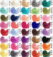 Wholesale DHL MIC Mxed Pashmina Cashmere Solid Shawl Wrap Women s Girls Ladies Scarf Soft Fringes Solid Scarf Size cm