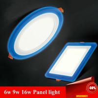 al por mayor cambiar las bombillas downlight-Tres modos de Cambio 6w 9w 16w panel LED Downlight AC85-265V caliente / fría blanca empotrada abajo se enciende la sala LED Lighting Bombilla ROHS CE