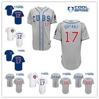 pinstripe baseball jerseys - Men s Chicago Cubs Jerseys Kris Bryant Kyle Schwarber Majestic Baseball Jersey White Pinstripe Blue Grey Jerseys