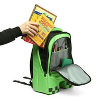 Wholesale 2015 Minecraft Backpack Game My World Children School Bags Kids Boys Mochila Double Shoulder Bag Block Coolie Strange free shiping