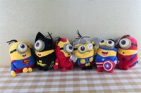 Wholesale NEW cm inch MINIONS dolls inch The Avengers Plush dolls plush toy anime toys minions cartoon dolls Stuffed toys soft for kids D249