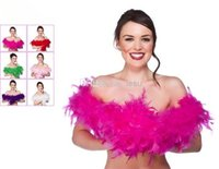 glam - New Arrive Glam Flapper Dance Fancy Dress Costume Accessory Feather Boa Scarf Wrap Burlesque Can Can Saloon