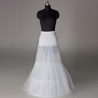 Wholesale Hot Sale Cheap High Quality Mermaid Wedding Petticoat Hoops Floor Length Long White Crinoline Underskirt Wedding Accessories WP169
