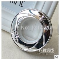 Wholesale 40 pset High quality Curtain accessories ring roman grommet for curtains silver hole digging circle acessorios mm