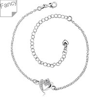 Wholesale Anklet silver anklet silver fashion jewelry anklet CM chain for modern women jewelry hjkg LA031