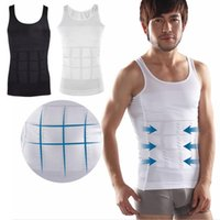 Cheap Men's sexy Slimming Body Shaper Belly Fatty thermal Underwear men sport Vest Shirt Corset Compression #MA0049