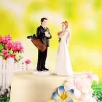 Wholesale Golf Fanatic Couple Wedding Cake Topper