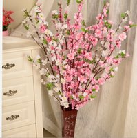 Wholesale Mix colors Artificial Flower Silk Peach Blossom Peach branch home garden shop wedding decoration Christmas Christmas decoration