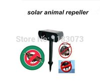 Cheap Wholesale-Hot selling solar powered ultrasonic animal repeller repellent birds, dogs, cats, deer, rat, mice, monkey, mole and more