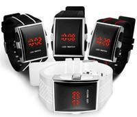 best luxury watch - Drop Shipping Best Gift Men s Luxury Date Digital Sport Led Watch With Red Light interview watches Korean watch