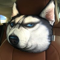 big leather chairs - HOT NEW D Printed Big Size Doge Dog Face Cushion Samoyed Husky Sofa Car Seat Chair Cushion Plush Throw Neck Pillow With Core