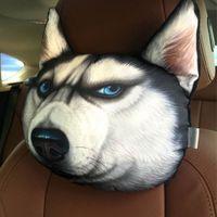 big leather sofa - HOT NEW D Printed Big Size Doge Dog Face Cushion Samoyed Husky Sofa Car Seat Chair Cushion Plush Throw Neck Pillow With Core