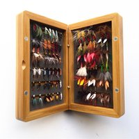 bait and tackle - dry and wet fly lures with fly box bamboo Trout lures fly fishing bait fake lure fishing tackle soft lure