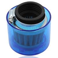 Filtro 38 millimetri Universal Air Per 90cc 110cc 125cc 200cc Con Blu Sede in plastica di copertura del motorino ATV Pit Dirt Bike High Performance ordine $ 18no trac