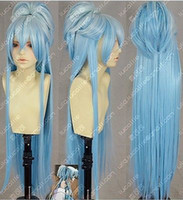 azure mix - gt gt Azure gradient shallow sea blue Fluffy tiger card cm cosplay wig