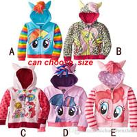 Wholesale My little pony girl children zipper hooded Outwear children outerwear kids long sleeve hoody fleece kid clothing C001