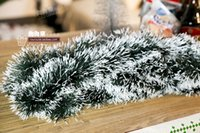 Wholesale 2 meters bold sticky white straw Christmas decorations hanging ornaments Christmas trees decorate the Christmas wool top