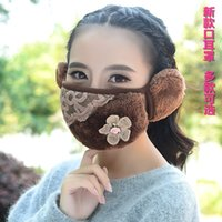 Wholesale The New Winter Warm Mouth Ear Mask for Fashion Lady Combo Cartoon Cold Thickening Anti Fog and Haze Mask