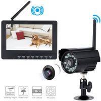al por mayor dvr cctv lcd-Digital DVR inalámbrico con grabación de tarjeta SD y cámaras de vigilancia nocturna de visión nocturna de largo alcance Sistema de seguridad de la cámara 7 pulgadas de monitor LCD S239