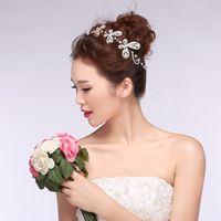 butterfly in flower - Fashion Crystals Butterfly Bridal Headdress Wedding Tiaras Rhinestones Bride Hair Clasp Headband In Stock Cheap Wedding Head Wear Crowns