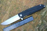 Wholesale ATLANTA Brian Nadeau Typhoon Flipper Folding Knife Black Aluminum Handles Cr18Mov Satin Blade
