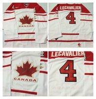 Cheap Mens #4 Lecavalier White 2010 Canada Team Vancouver Winter Olympic Hockey Jerseys Ice International Sports Stitched Premier Authentic Sport