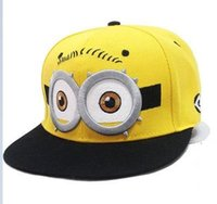 Wholesale New Despicable Me Minions hip hop cap hat bboy hat fashion wave of female street punk letters baseball cap a971