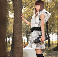Wholesale Long Overcoat Womens Faux Fur Vest Sleeveless Jacket Coat Hoodies Waistcoat