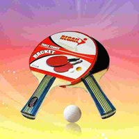 Wholesale Low price cheap Table tennis rackets Durable quality double face Pimples in rubber bat for primary tenis learner easy to control