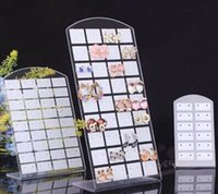 Wholesale 3pcs one set Acrylic black and white earring stud board L shape ring display earring stud Display Stand jewelry holder