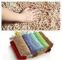 Wholesale 12 size microfiber chenille bath mat rugs and carpets bedroom floor mats living room mat bathroom door mat