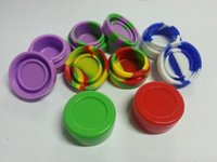 Wholesale HOT Containers silicone box ml Nonstick Wax Silicon container Non stick food grade wax jars dab tool storage jar oil holder