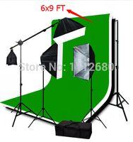Wholesale christmas x9ft Photography and photo Video Studio Umbrella Lighting Kits with Lighting Stand X Triple Muslin
