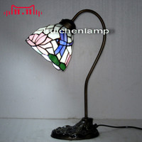 bedroom nightstands - American tiffaoiy eye study creative writing reading lamps Continental lotus Dragonfly bedroom nightstand lamp