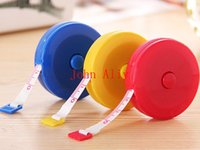 Wholesale Wholeasle Mini Soft Retractable Ruler Tape Measure inch Sewing Cloth Dieting Tailor M Caliper Measuring Body Gauging Tools