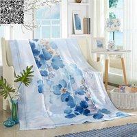 Wholesale 200 cm kg spring autum summer Silk Comforter super soft Tencel quilted Quilt mulberry silk Duvet printed Blanket queen Throw