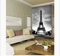 architectural moulding - Papel de parede European architectural decorative Eiffel Tower non woven wallpaper customize size Free fast shipping w