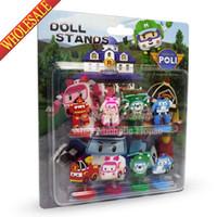 Wholesale hot poli deformation car Robocar pvc doll robocar poli kids party gifts christmas gift