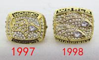 El envío libre 1997 1998 Denver recuerdos fabricación de aleación de anillos de campeonato tamaño 11