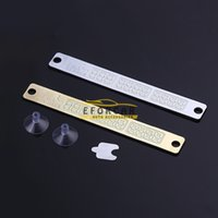Wholesale ABS Night Light Car Temporary Parking Card Phone Number Card Plate Car Sticker Durable Silver Gold Glow In Night