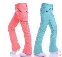 Wholesale New Gsou SNOW women s ski pants Snowboard ski suit Outdoor sports thermal warm pants waterproof pants breathable