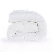 Wholesale Luxury white Microfiber Fabric Comforter Blanket Quilted Quilt Duvet for Winter Twin or Full or Queen or King Size