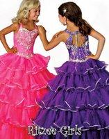 best gold beauty - 2015 New Arrvial Best Selling Rhinestone Glitz Beauty Layers New Pageant Dress Flower Girl Dresses