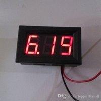 Wholesale V OR V DC Car Motor Red LED Digital Voltmeter Volt Voltage Panel Meter A3