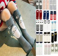 Wholesale Animal Rabbit Elephant Mickey printed kids knee length socks cartoon infant Fox stockings fall winter boys girls Leg Warmers HX