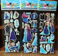 Wholesale Hot Sale Frozen Design Kids Cute Toy Decorative Stickers Cartoon Craft Scrapbook Stickers Awards Children s Products Gifts
