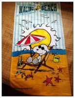 beach towls - NEW SNOOPY COTTON BEACH TOWL RECTANGLE SWIMMING BATH TOWLS Woodstock High Water Absorbency SIZE cm G A FACTORY PRICE